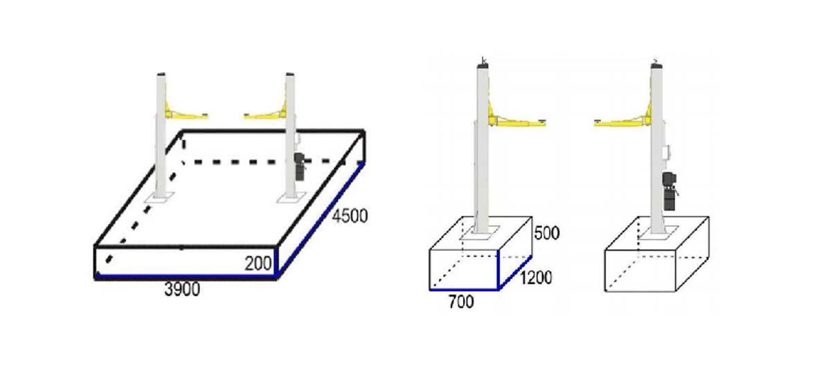 Montáž dvojstĺpového zdviháka
