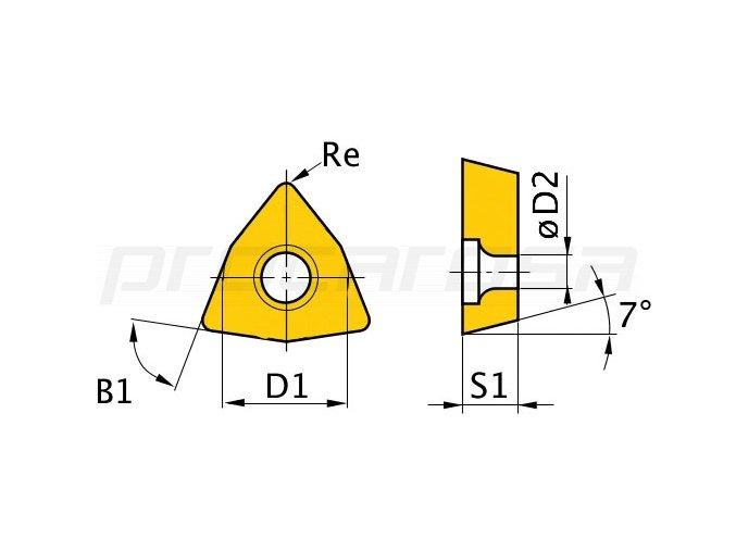 Vložky W/80°, 5 ks