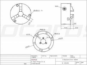 3-čelisťové skľučovadlo 125 mm pre RT 150
