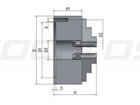 3-čelisťové skľučovadlo s centrálnym upínaním Ø 80 mm
