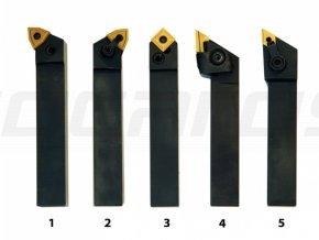 Sústružnícke nože HM 20 mm, sada - 5 ks
