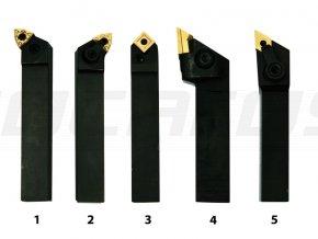 Sústružnícke nože HM 16 mm, sada - 5 ks