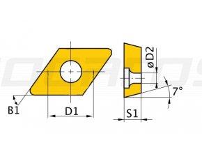Rezné doštičky D/55°, 5 ks