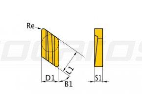 Rezné doštičky K/55°, 5 ks