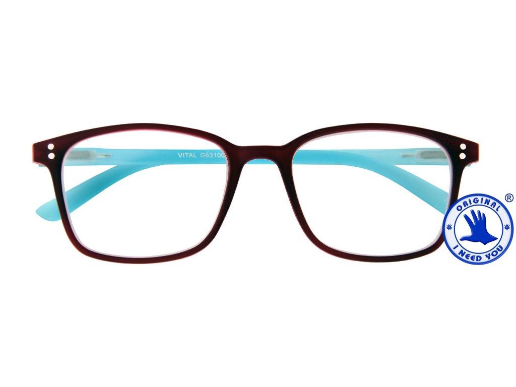 VITAL G63100 burgundy blue front