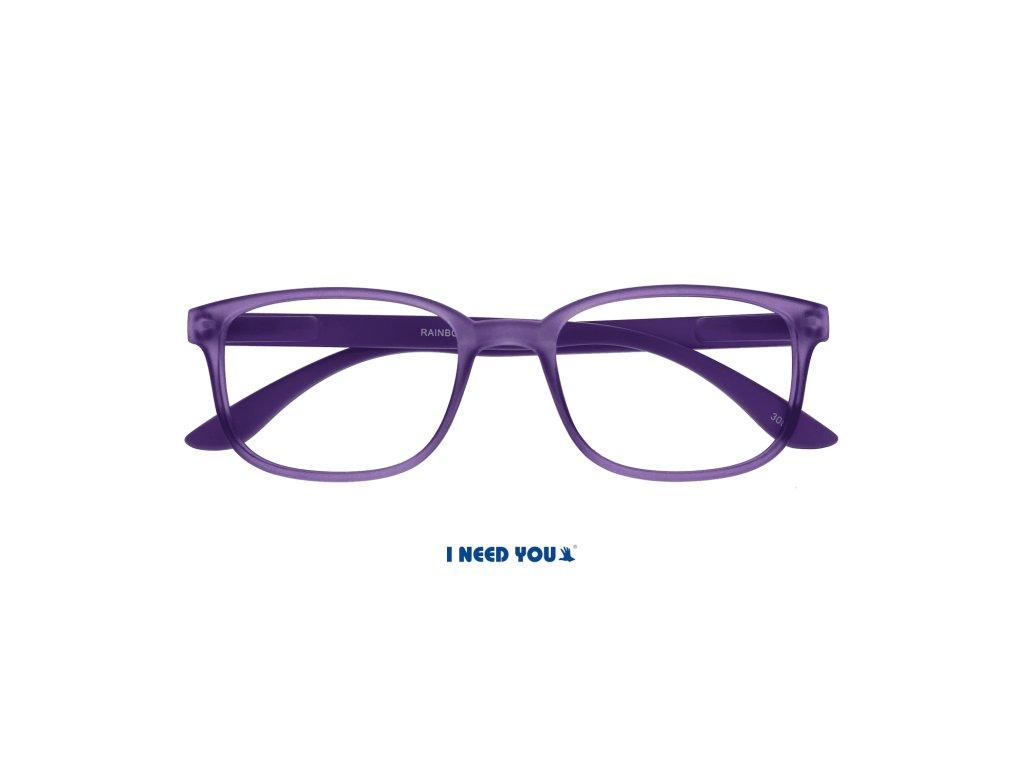 RAINBOW brýle na čtení fialová