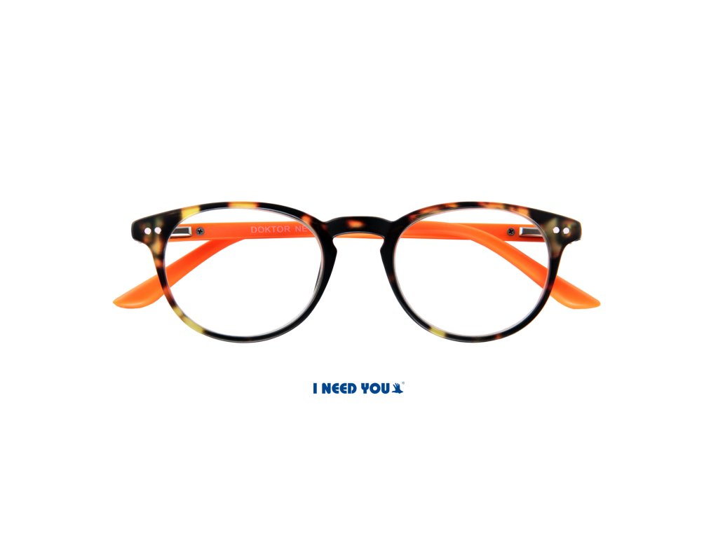 DOKTOR NEW brýle na čtení želvovina oranžová