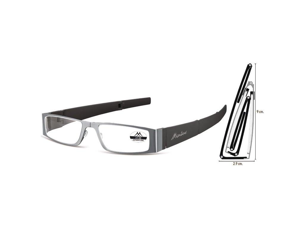 MR26 kovové skládací brýle na čtení