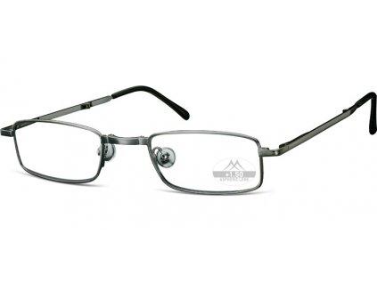 RF 25A kovové skládací brýle na čtení šedá