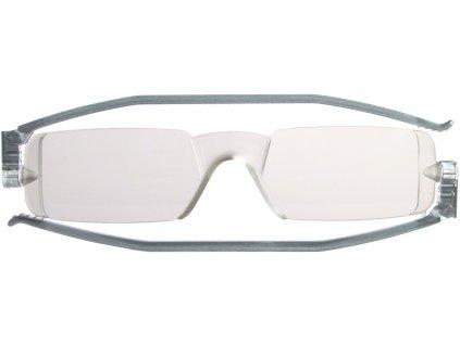 COMPACT 1 skládací brýle na čtení šedé