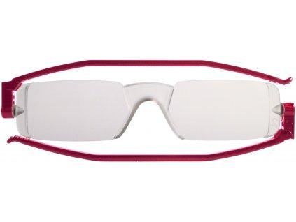 COMPACT 1 skládací brýle na čtení červené
