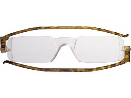 COMPACT 1 skládací brýle na čtení hnědé žíhané