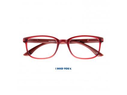 RAINBOW brýle na čtení tmavě červená