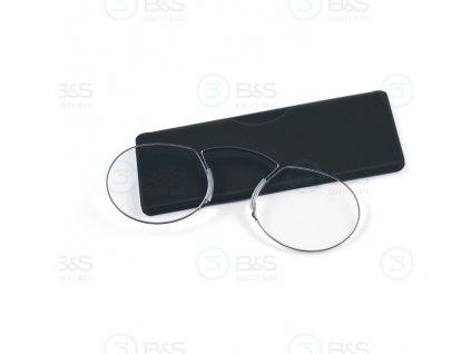 Cvikr na čtení stříbrný s černým pouzdrem