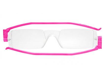 COMPACT 1 skládací brýle na čtení růžové