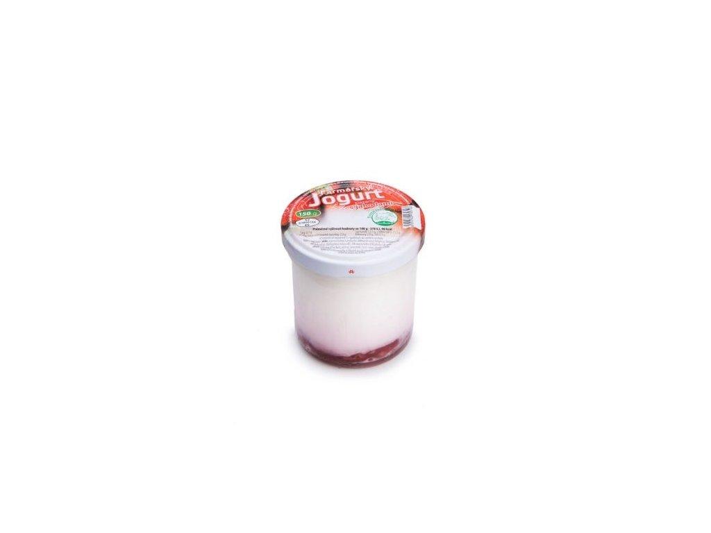 Farmářský jogurt s jahodami