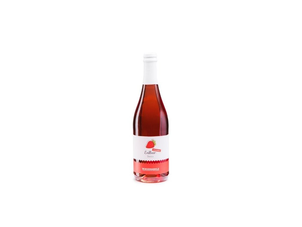 Nealkoholické šumivé víno Erdbeer-Secco