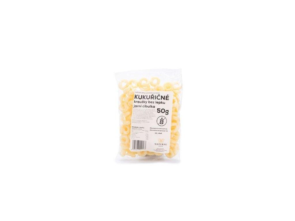 Kukuřičné kroužky jarní cibulka 50g