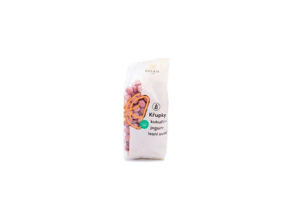 Křupky kukuřičné jogurt-lesní ovoce 140g