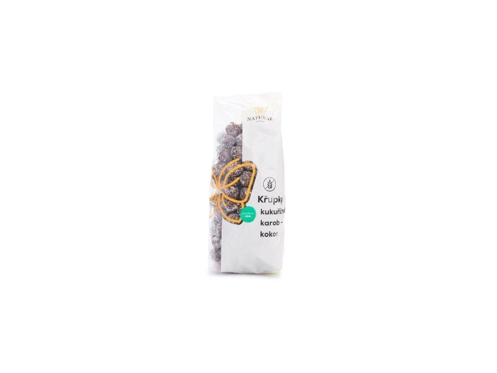 Křupky kukuřičné karob-kokos 140g