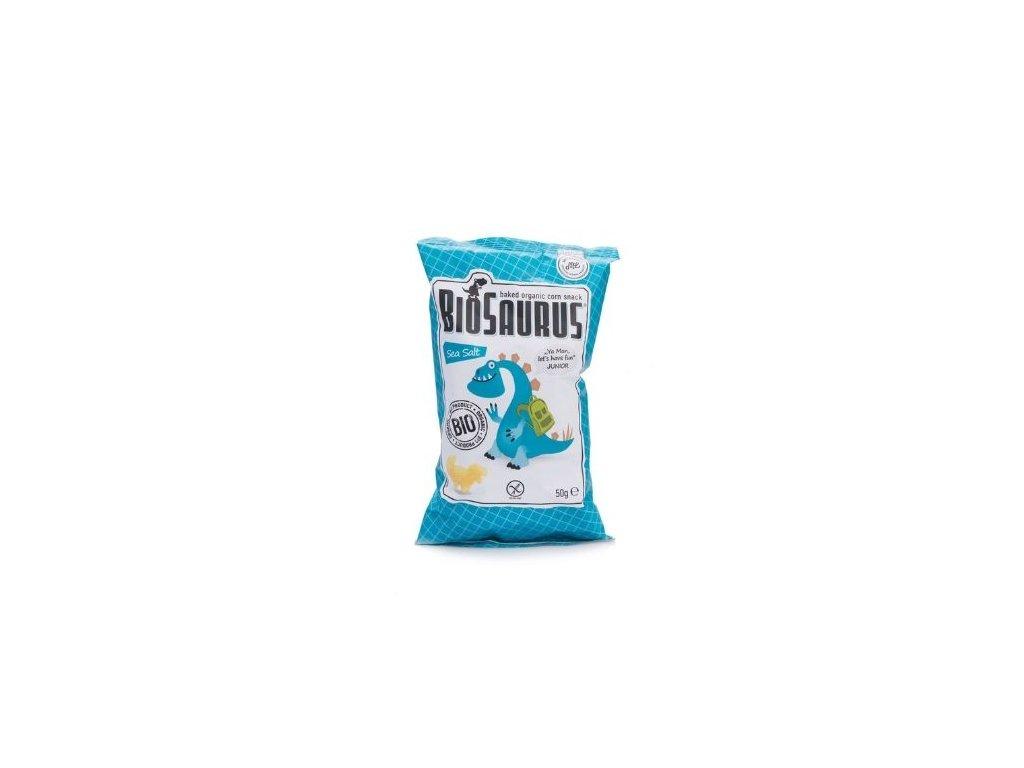 Biosaurus bio kukuřičné křupky slané 50g
