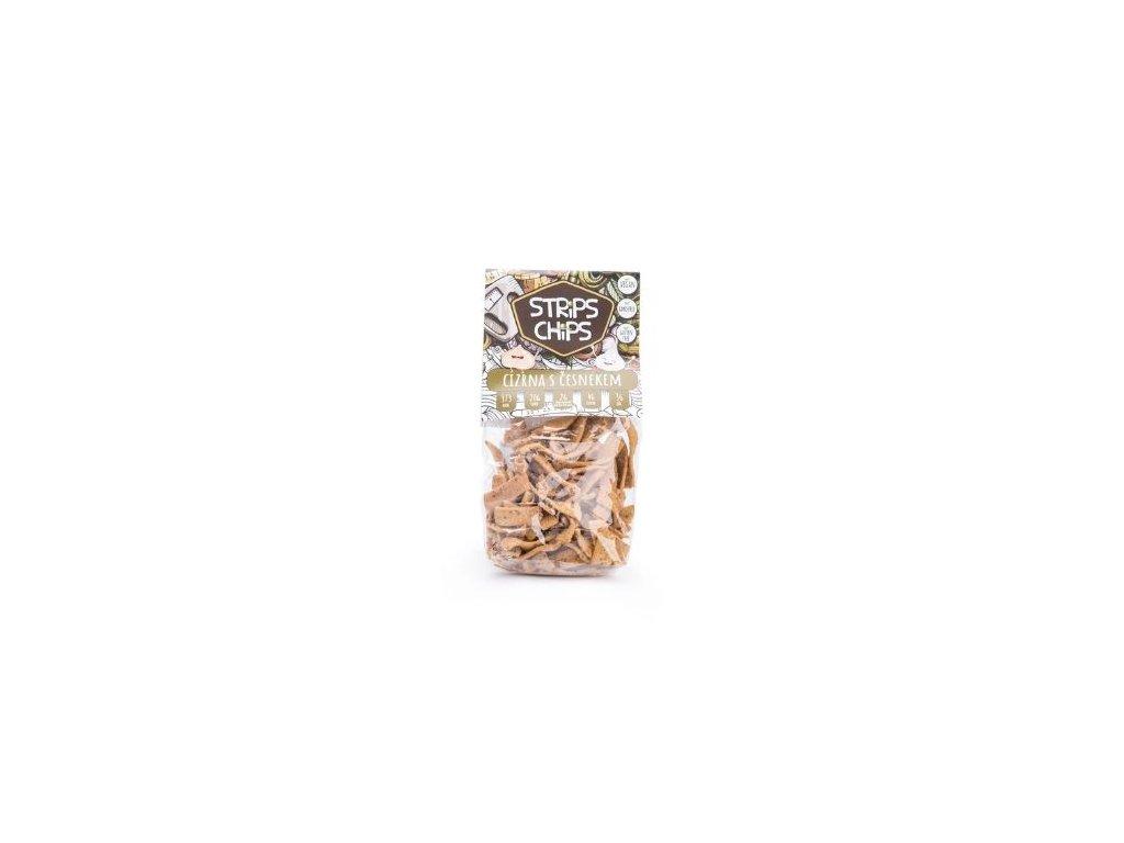 Strips Chips Cizrna s česnekem 80g