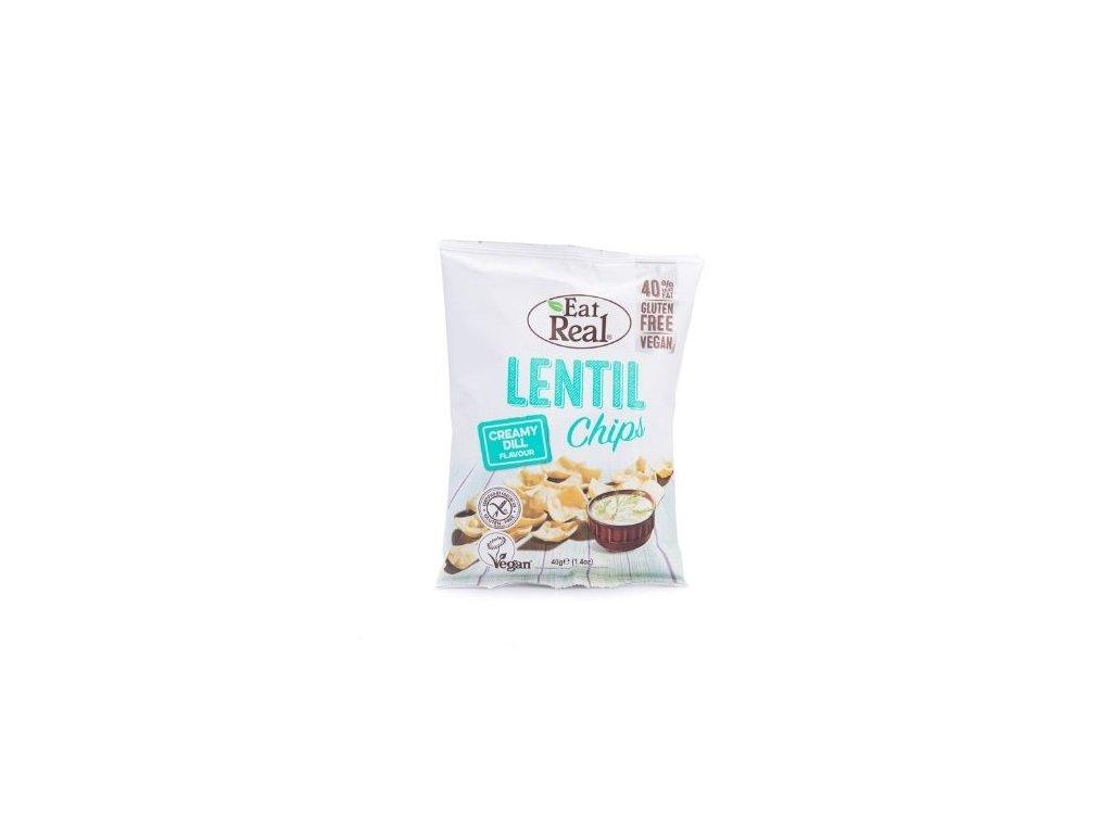 Eat Real Lentil Chips - Smetana a kopr 40g