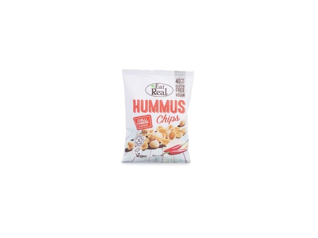 Eat Real Hummus Chips - Chilli a sýr 45g