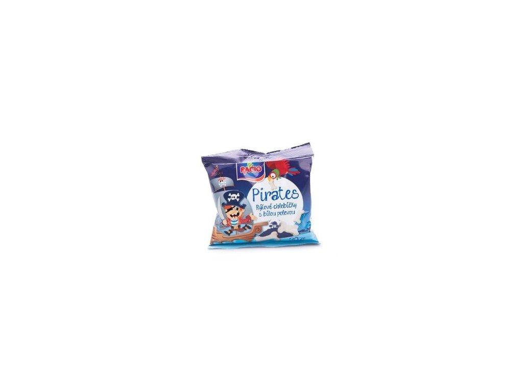 Pirates - rýžové chlebíčky s jogurtovou polevou 30g