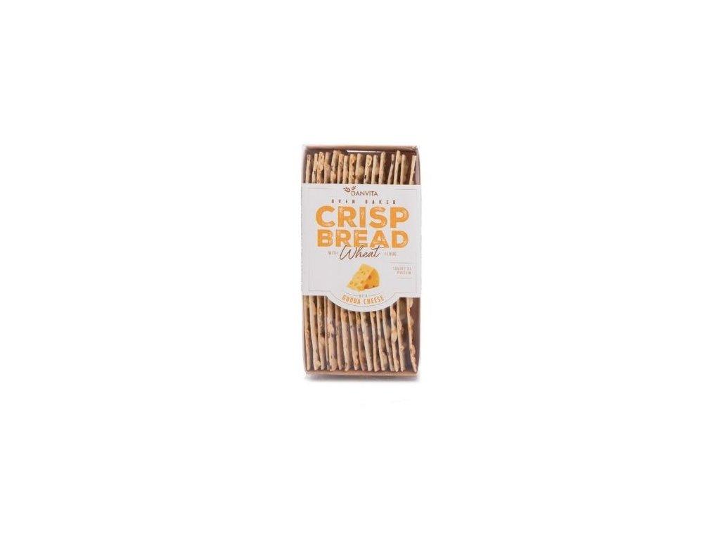 Křehký pšeničný chléb - sýr gouda 130g