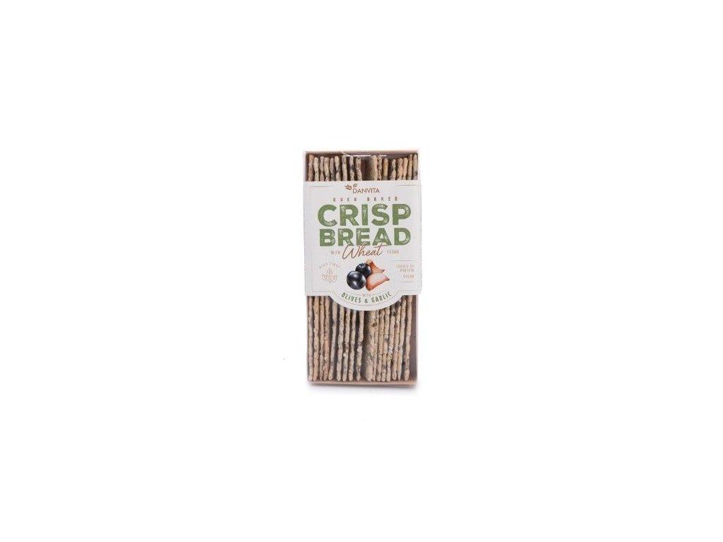 Křehký pšeničný chléb - olivy a česnek (ovenbaked)
