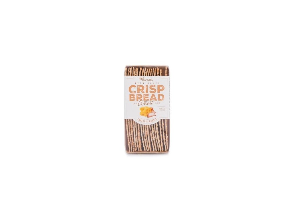 Křehký pšeničný chléb - sýr a česnek 130g