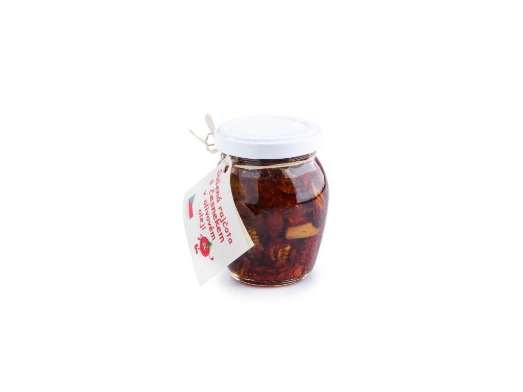 Sušená rajčata s česnekem v olivovém oleji