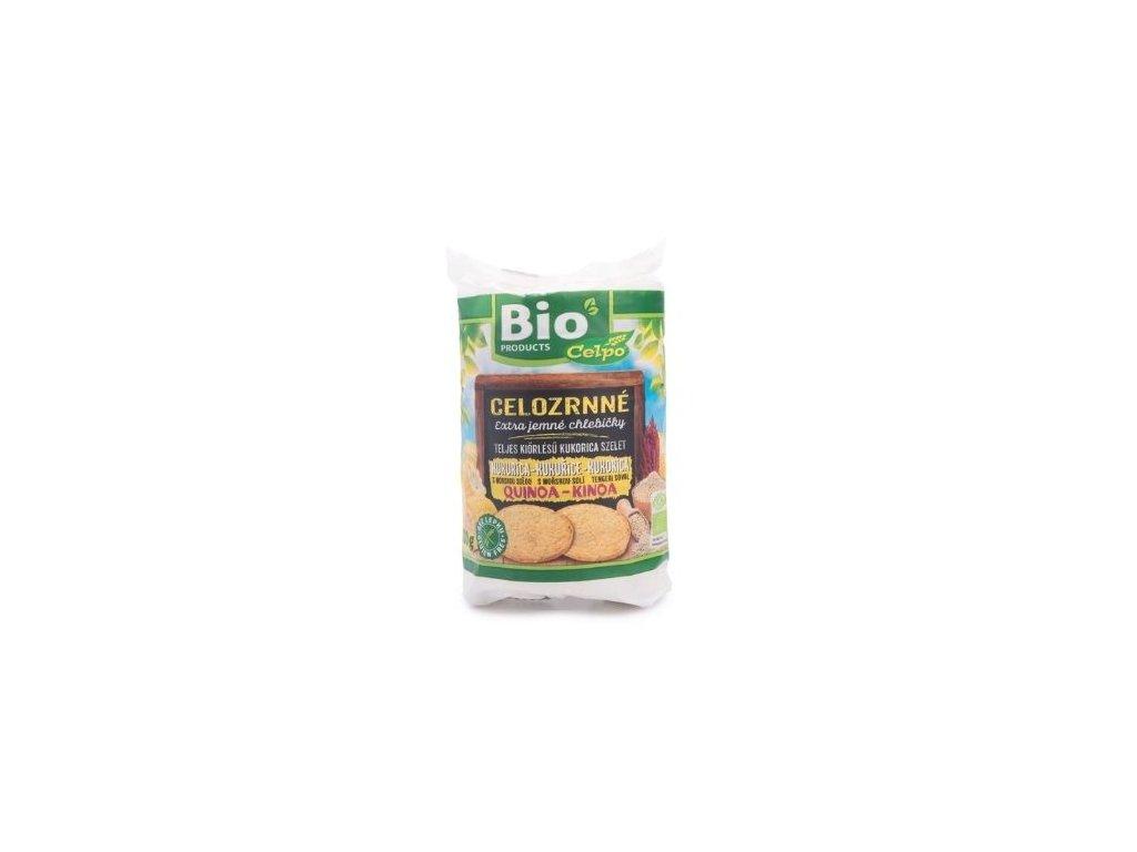 Celozrnné chlebíčky kukuřičné s quinoou