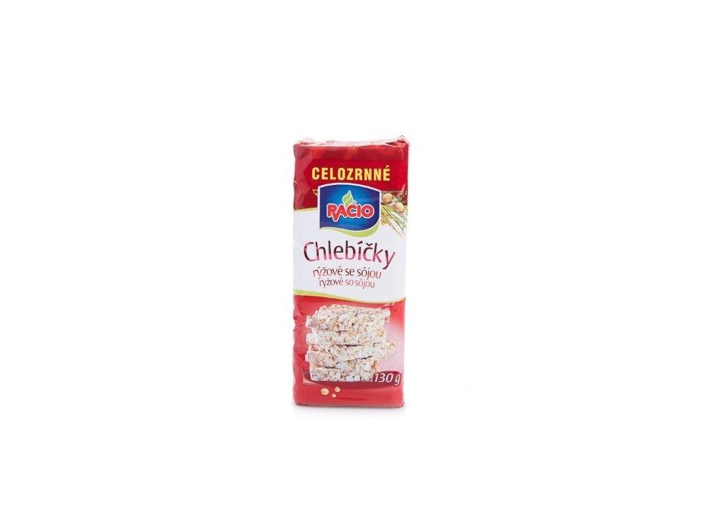 Celozrnné chlebíčky rýžové se sójou