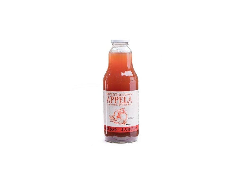100% šťáva z ovoce - jablko a jahoda 1l