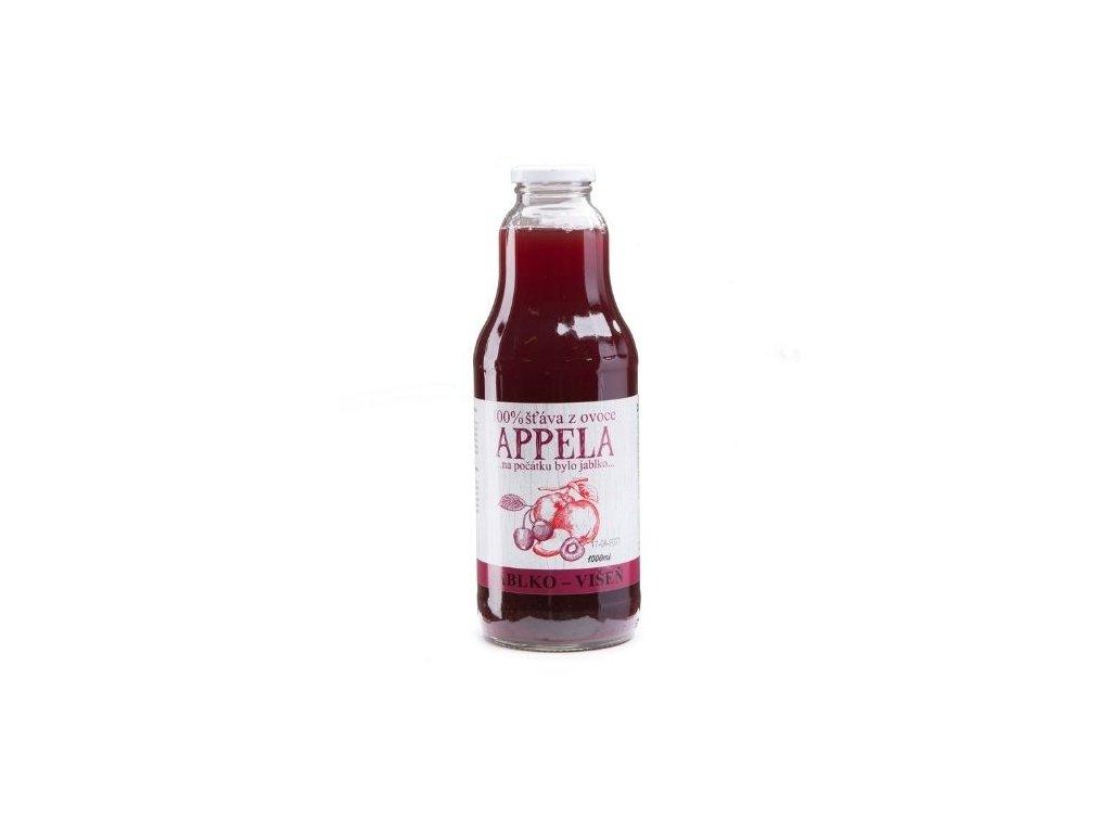 100% šťáva z ovoce - jablko a višeň 1l