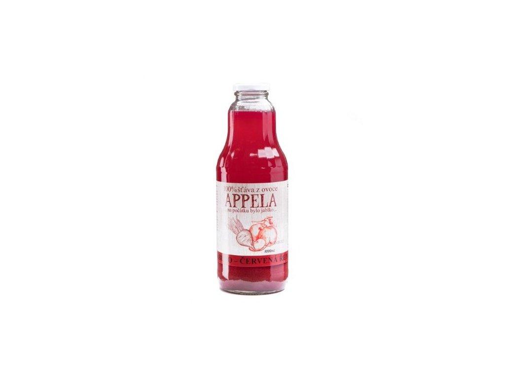 100% šťáva z ovoce - jablko a červená řepa 1l