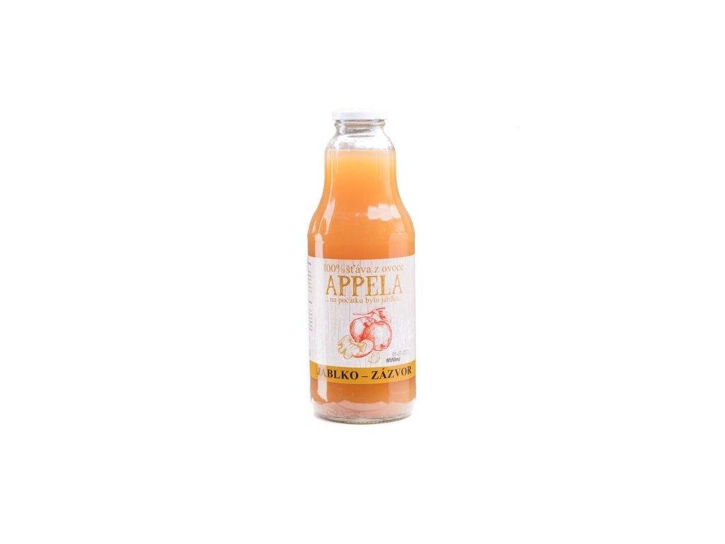 100% šťáva z ovoce - jablko a zázvor 1l