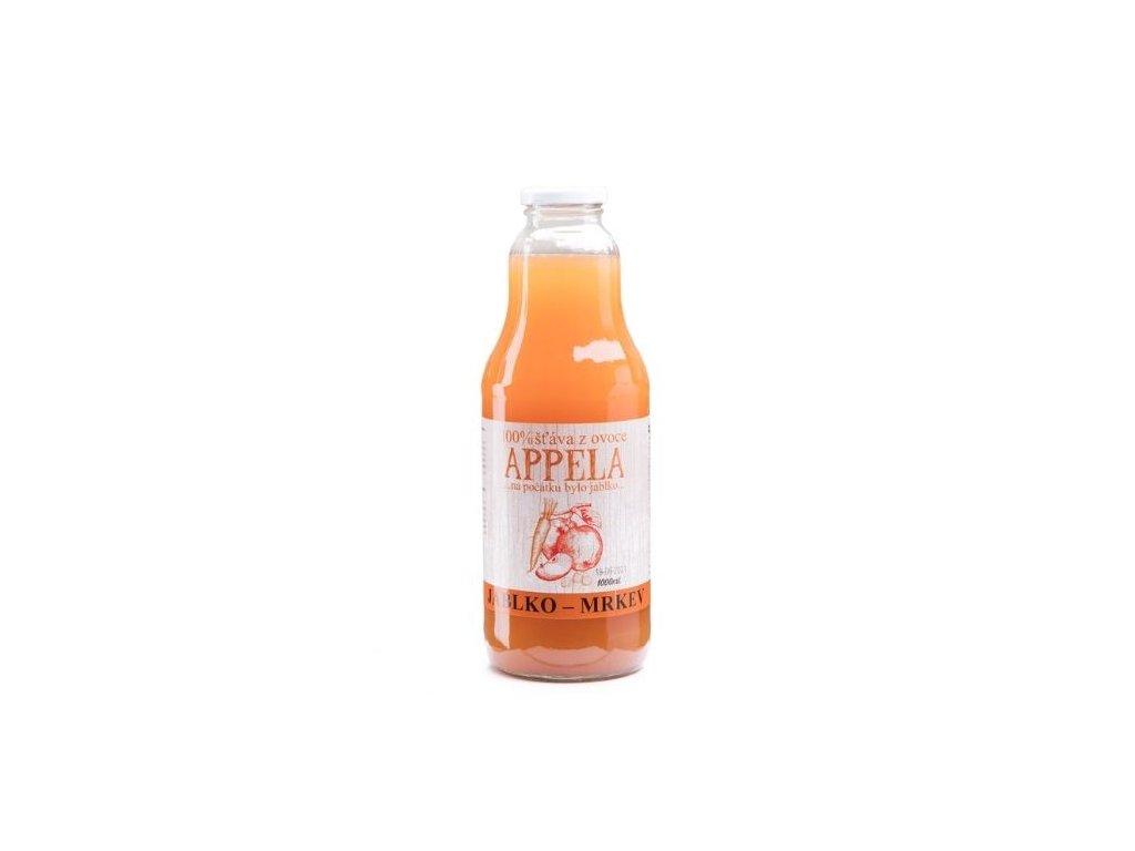 100% šťáva z ovoce - jablko a mrkev 1l
