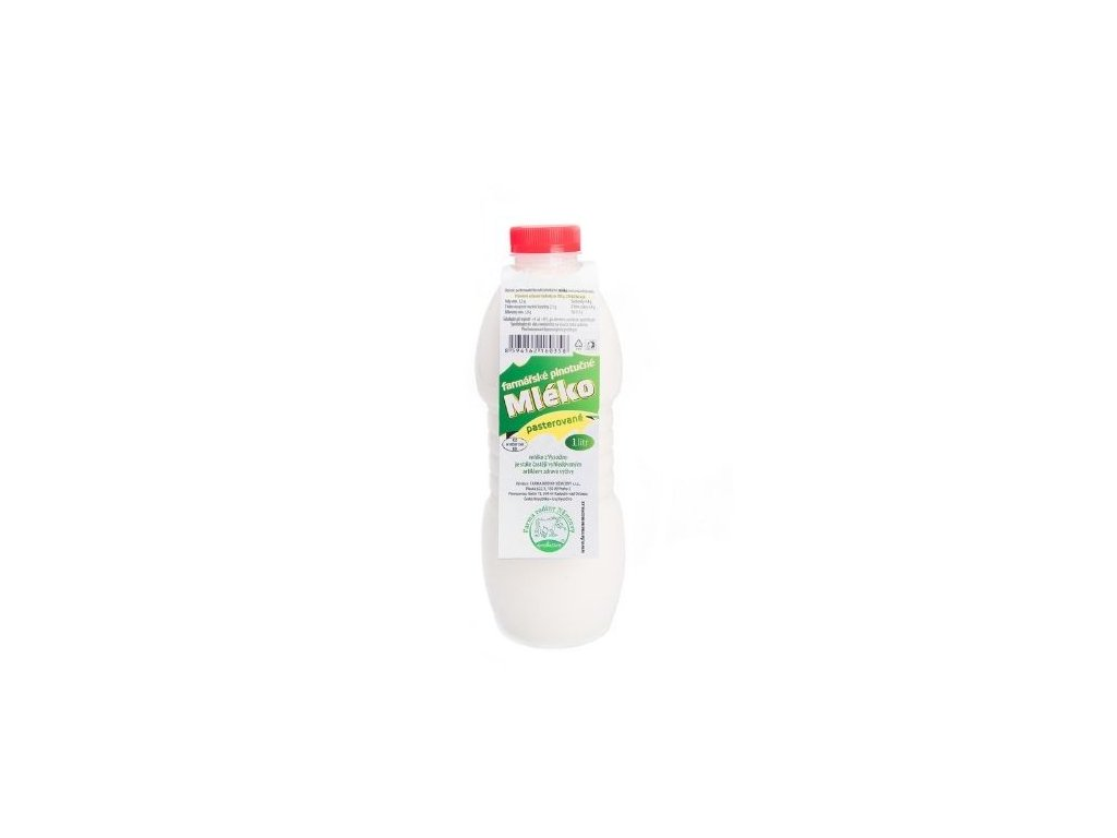 Farmářské plnotučné mléko pasterované