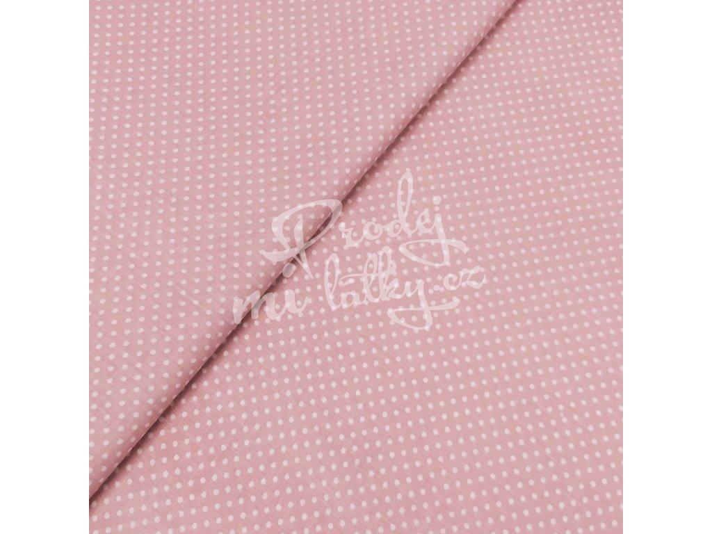 Plátno - Puntík, růžová