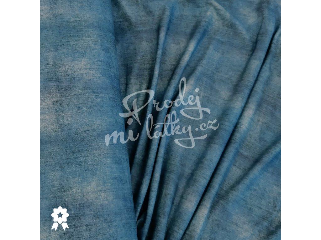 2032 Teplákovina Jeans, středně modrá