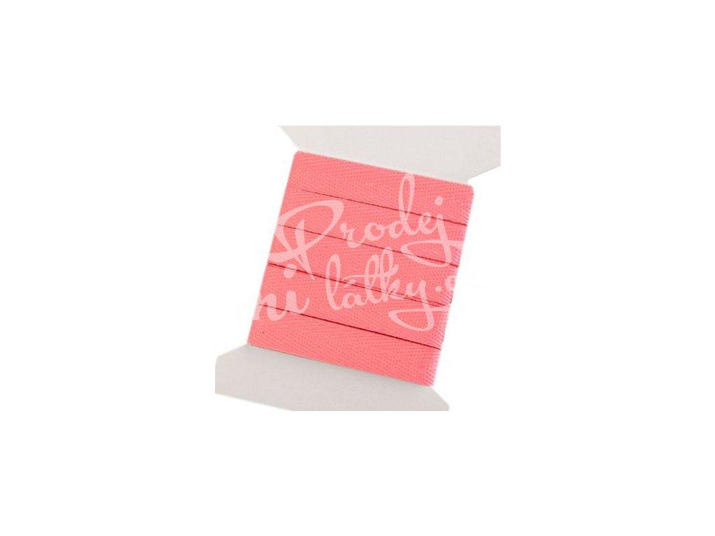 2063 Keprová stuha 10mm, balení 3m Světle růžová