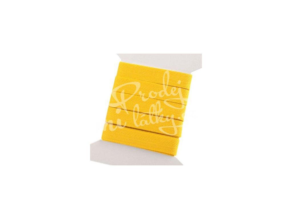 2067 Keprová stuha 10mm, balení 3m Žlutá