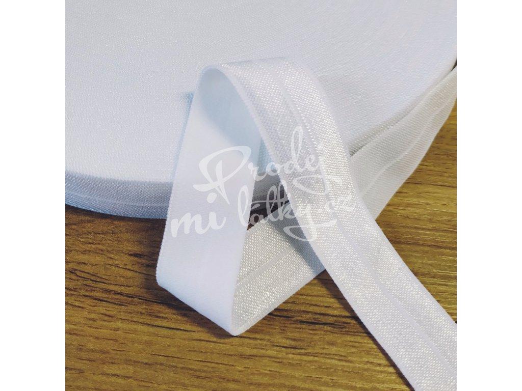 Lemovací, půlená pruženka 20mm - Bílá