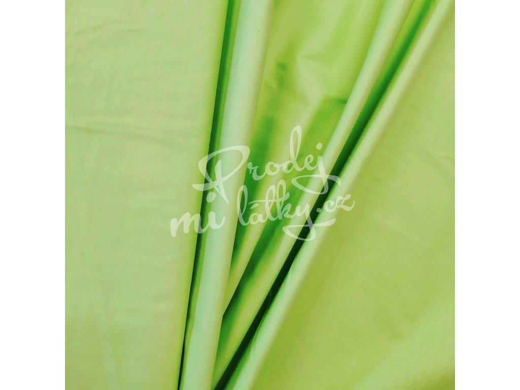 Plátno - Limetkově zelená š. 160