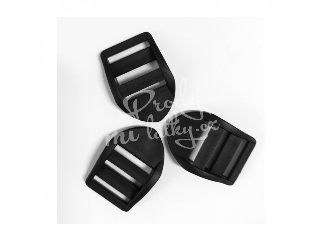 2149 Plastový průvlek, žebříček 25mm Černá