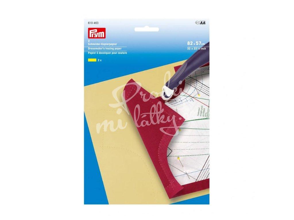 2184 PRYM Papír kopírovací na střihy 82x57cm, 2 ks