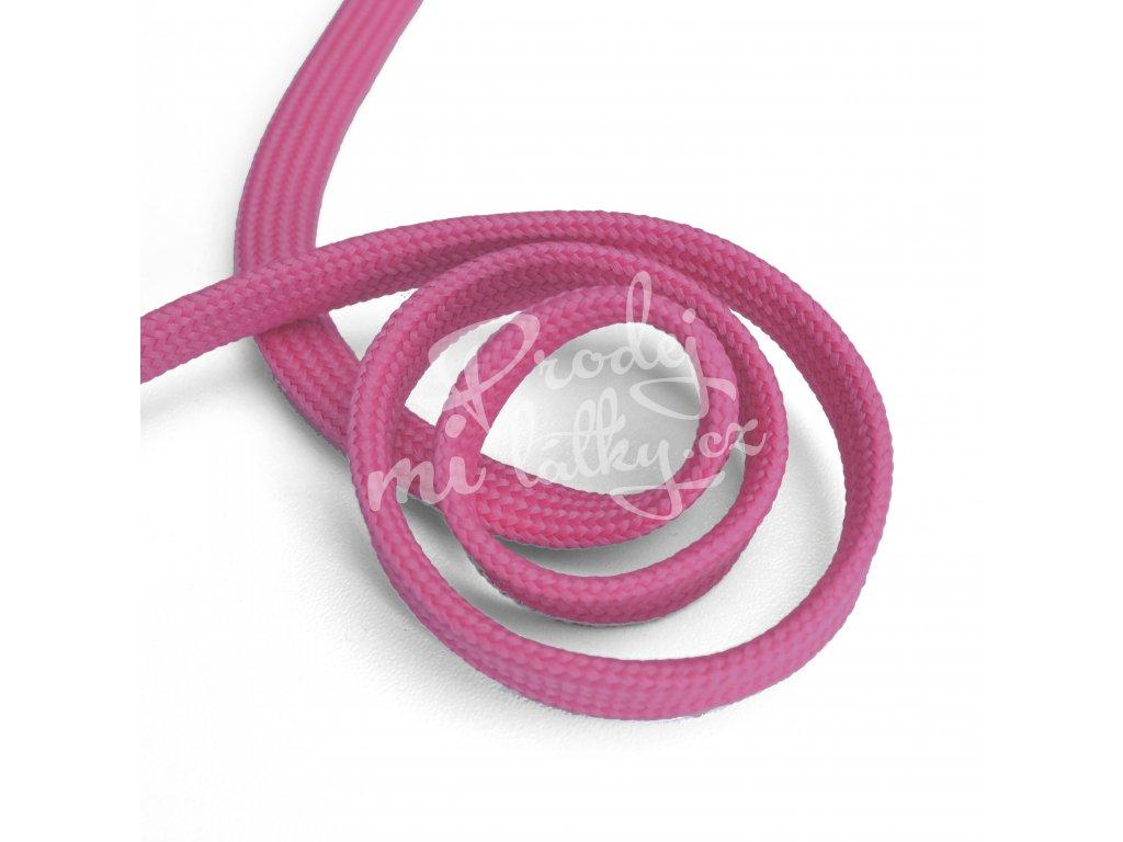 1604 Oděvní šňůra plochá, 10mm růžová